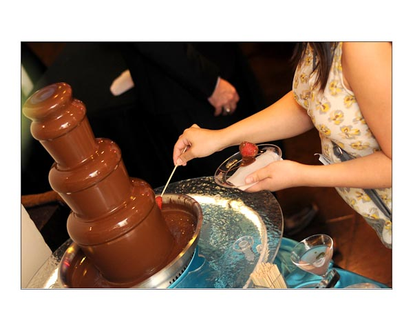 Tasty chocolate fountain by Chocolate Fountains Forever